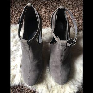 Jessica Simpson stiletto ankle strap suede heels